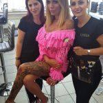 Loredana (li.) und Viviana (r.) mit Gina-Lisa