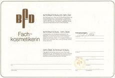 BFD-Diplom Fachkosmetikerin