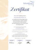 Zertifikat Ausbildung zur Kosmetikerin